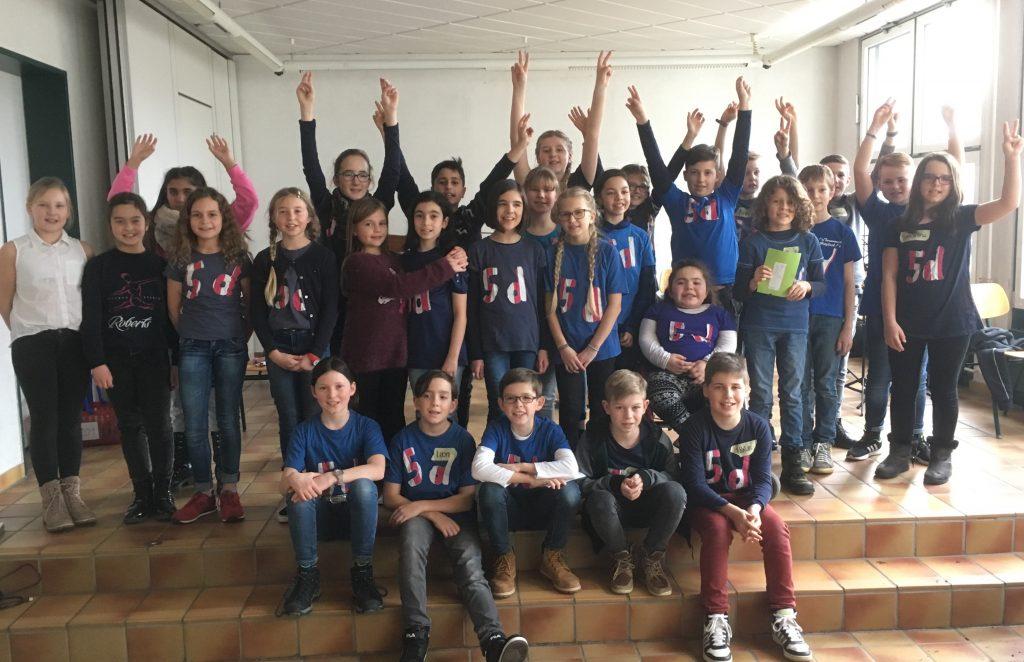 Klasse 5d des Gymnasium Michelstadt
