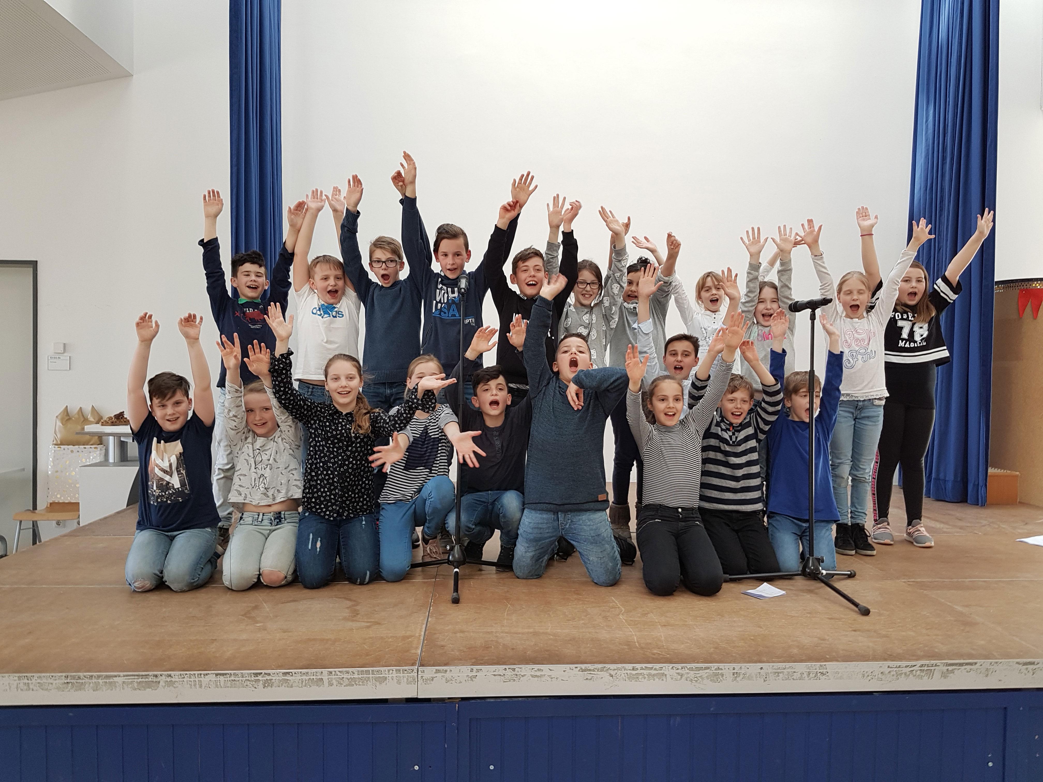Klasse 4d der Waldschule in Obertshausen