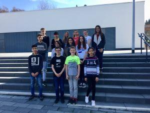 Schülerinnen und Schüler der Klasse 7e und der Intensivklasse DaZ der TKS Grünberg