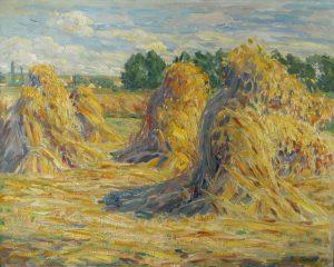 Carl Felber 1880 – 1932, Kornmandl, 1917, Öl auf Leinwand, Gemäldegalerie Dachau, Stadt Dachau