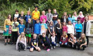 Klassen 4a & 4b der Haingrabenschule in Butzbach-Niederweisel