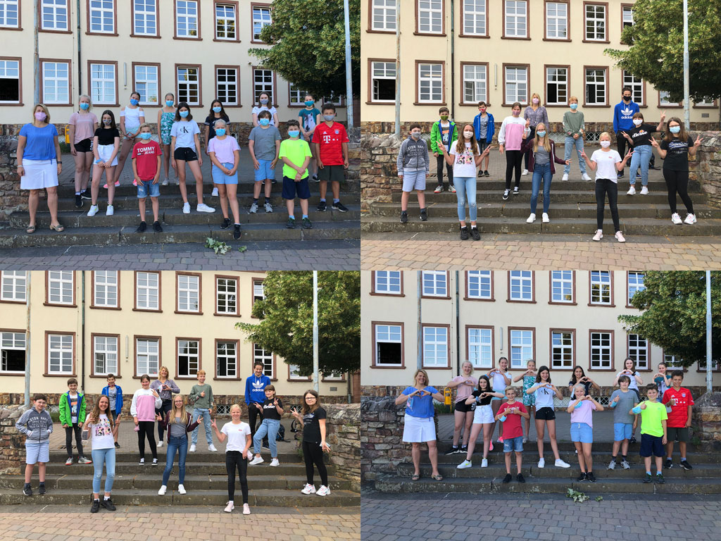 Klasse 6c der Rheingauschule in Geisenheim