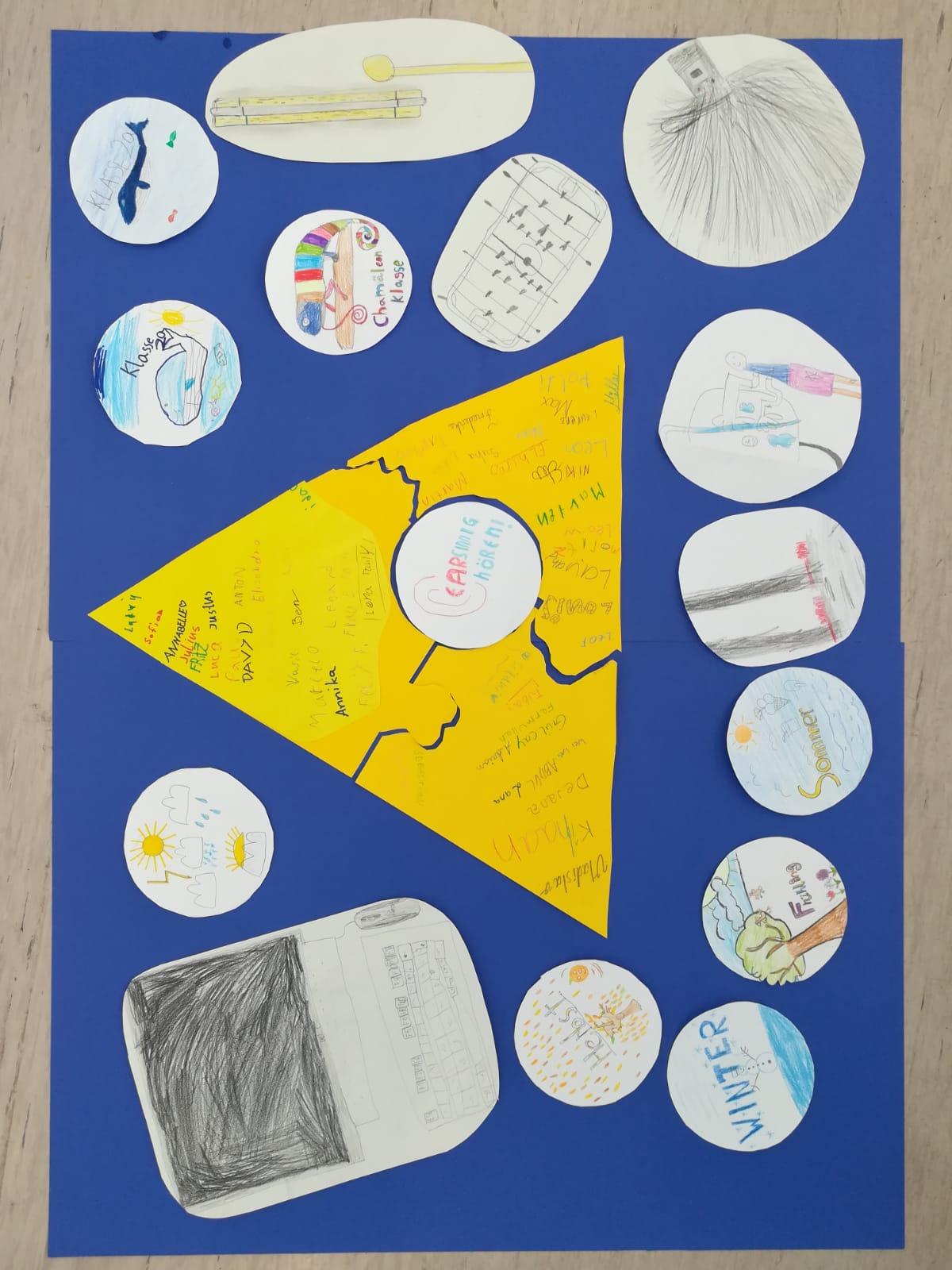 Plakat mit diversen Kinderzeichnungen